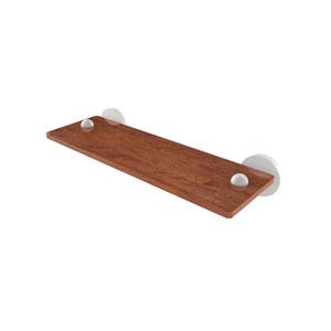 Tango Matte White 16-Inch Solid IPE Ironwood Shelf