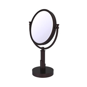 Tribecca Antique Bronze Eight-Inch Vanity Top Make-Up Mirror 4X Magnification