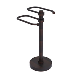 Venetian Bronze Eight-Inch Free Standing Two Arm Guest Towel Holder