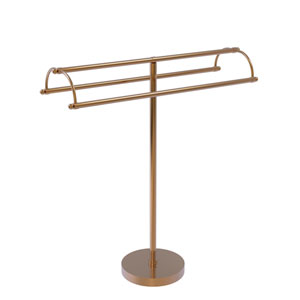Brushed Bronze 31-Inch Free Standing Double Arm Towel Holder