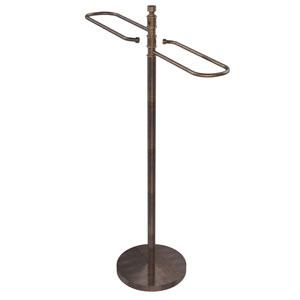 Venetian Bronze Eight-Inch Free Standing Floor Bath Towel Valet