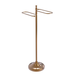 Brushed Bronze 11-Inch Free Standing Floor Bath Towel Valet