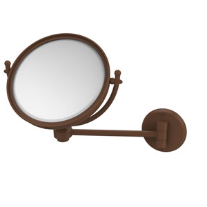 Antique Bronze Eight-Inch Wall Mounted Make-Up Mirror 2X Magnification
