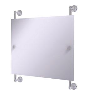 Waverly Place Polished Chrome 26-Inch Landscape Rectangular Frameless Rail Mounted Mirror