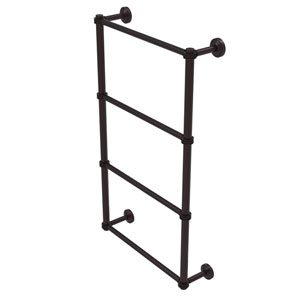 Waverly Place Antique Bronze 30-Inch Four Tier Ladder Towel Bar with Dotted Detail