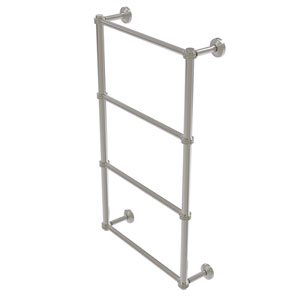 Waverly Place Satin Nickel 30-Inch Four Tier Ladder Towel Bar with Dotted Detail
