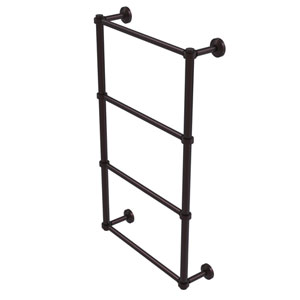 Waverly Place Antique Bronze 30-Inch Four Tier Ladder Towel Bar with Groovy Detail