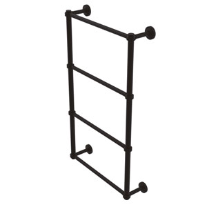 Waverly Place Oil Rubbed Bronze 30-Inch Four Tier Ladder Towel Bar with Groovy Detail