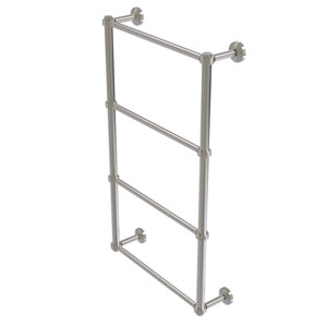 Waverly Place Satin Nickel 30-Inch Four Tier Ladder Towel Bar with Groovy Detail