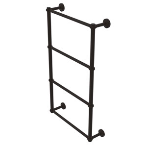 Waverly Place Oil Rubbed Bronze 30-Inch Four-Tier Ladder Towel Bar with Twisted Detail