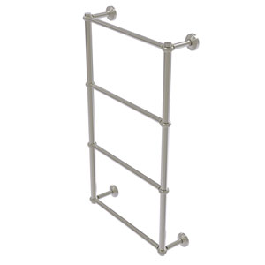Waverly Place Satin Nickel 30-Inch Four-Tier Ladder Towel Bar with Twisted Detail