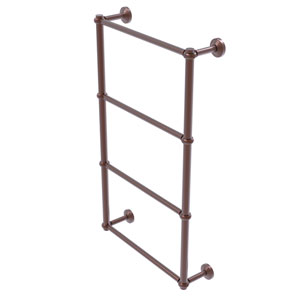 Waverly Place Antique Copper 36-Inch Four-Tier Ladder Towel Bar with Twisted Detail