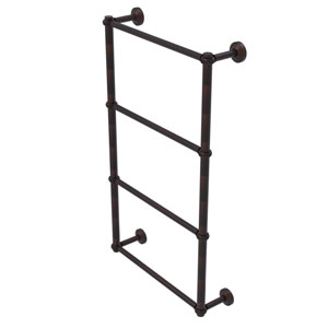 Waverly Place Venetian Bronze 36-Inch Four-Tier Ladder Towel Bar with Twisted Detail
