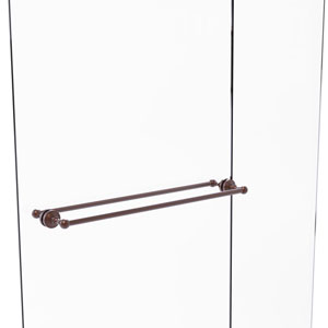 Waverly Place Antique Copper 30-Inch Back to Back Shower Door Towel Bar
