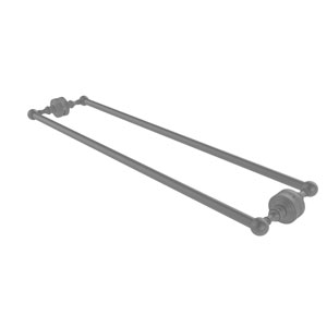 Waverly Place Matte Gray 30-Inch Back to Back Shower Door Towel Bar
