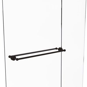 Waverly Place Oil Rubbed Bronze 30-Inch Back to Back Shower Door Towel Bar