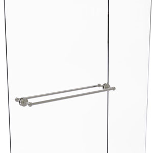 Waverly Place Satin Nickel 30-Inch Back to Back Shower Door Towel Bar