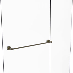 Waverly Place Antique Brass 30-Inch Shower Door Towel Bar