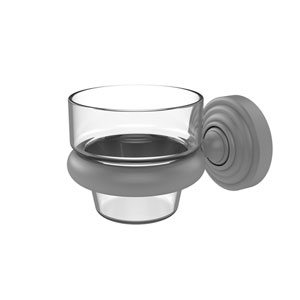 Waverly Place Matte Gray Three-Inch Wall Mounted Votive Candle Holder
