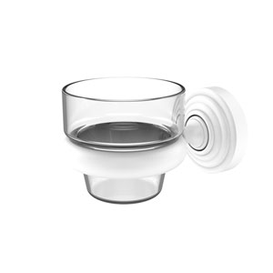 Waverly Place Matte White Three-Inch Wall Mounted Votive Candle Holder