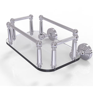 Waverly Place Polished Chrome Eight-Inch Wall Mounted Glass Guest Towel Tray