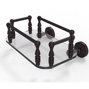 Waverly Place Antique Bronze Eight-Inch Wall Mounted Glass Guest Towel Tray