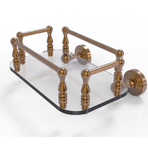 Waverly Place Brushed Bronze Eight-Inch Wall Mounted Glass Guest Towel Tray