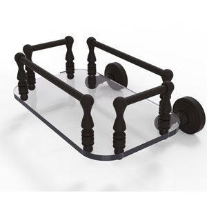 Waverly Place Oil Rubbed Bronze Eight-Inch Wall Mounted Glass Guest Towel Tray