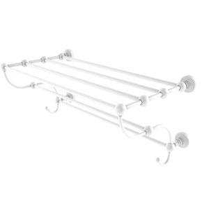 Waverly Place Matte White 24-Inch Train Rack Towel Shelf