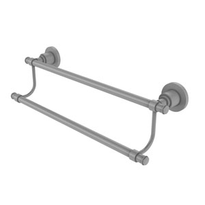 Washington Square Matte Gray 30-Inch Double Towel Bar