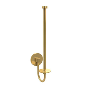 Polished Brass Upright Paper Towel Holder