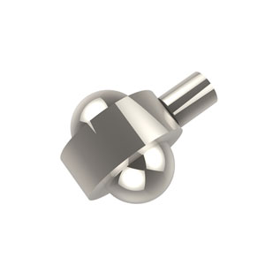 Cabinet Hardware Polished Nickel Cabinet Knob 1-1/2 Inch