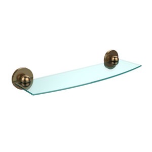 Skyline Brushed Bronze 18 Inch Beveled 1/4 Inch Glass Shelf