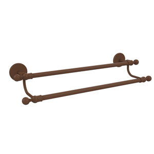 Skyline Collection 24 Inch Double Towel Bar, Antique Bronze