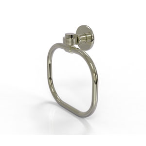 Continental Collection Towel Ring with Groovy Accents, Polished Nickel