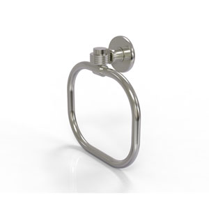 Continental Collection Towel Ring with Groovy Accents, Satin Nickel