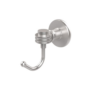 Continental Collection Robe Hook with Dotted Accents, Satin Chrome