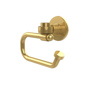 Continental Collection Europen Style Toilet Tissue Holder, Polished Brass
