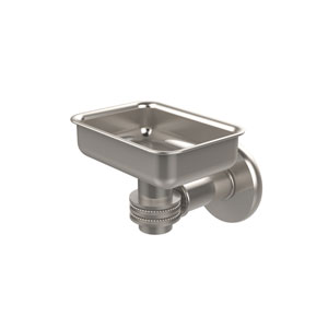 Continental Collection Wall Mounted Soap Dish Holder with Dotted Accents, Satin Nickel