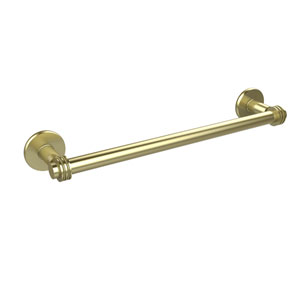 Continental Collection 24 Inch Towel Bar with Dotted Detail, Satin Brass
