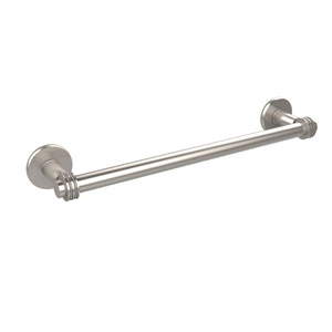 Continental Collection 24 Inch Towel Bar with Dotted Detail, Satin Nickel
