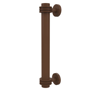 8 Inch Door Pull with Dotted Accents, Antique Bronze