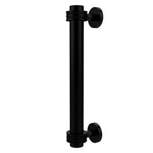8 Inch Door Pull with Dotted Accents, Matte Black
