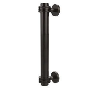 8 Inch Door Pull with Dotted Accents, Oil Rubbed Bronze