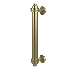 8 Inch Door Pull with Dotted Accents, Satin Brass