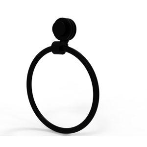 Venus Collection Towel Ring with Dotted Accent, Matte Black