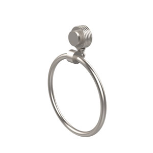 Venus Collection Towel Ring with Groovy Accent, Satin Nickel