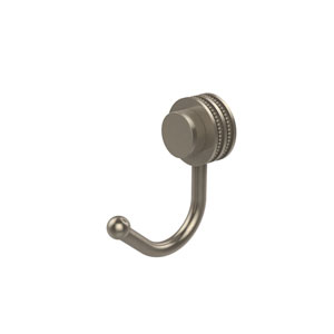 Venus Collection Robe Hook with Dotted Accents, Antique Pewter