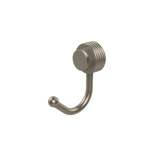 Venus Collection Robe Hook with Groovy Accents, Antique Pewter