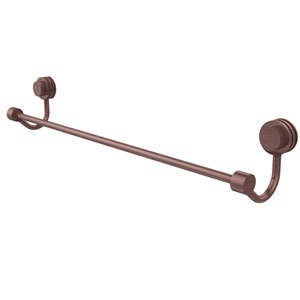 Venus Collection 18 Inch Towel Bar with Dotted Accent, Antique Copper